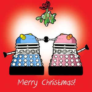 CANX26  Happy Christmas Card Dalek